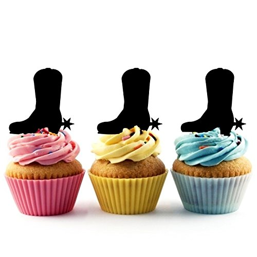Cowboy Boot Kuchenaufsätze Hochzeit Geburtsta Acryl Dekor Cupcake Kuchen Topper Stand für Kuchen Party Dekoration 10 Stück