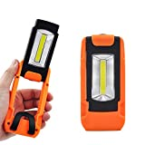 Batteriebetriebene 3W LED Arbeitsleuchte Werkstattleuchte Taschenlampe Faltbare Tragbare mit Magnet und Hängender Ring, 1er Pack von Enuotek