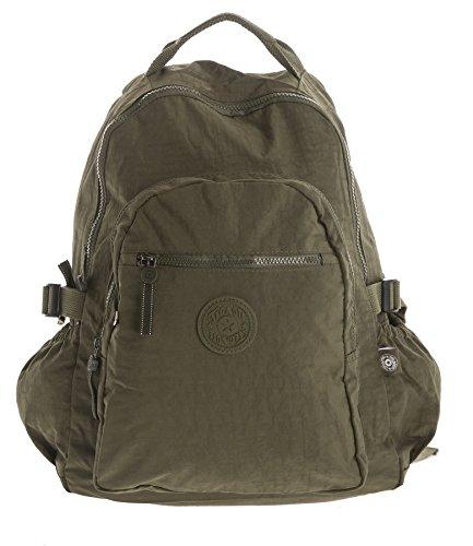 Imagen de big handbag shop  bolso  de tela para mujer verde backpack style 1  army green
