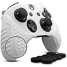 CHINFAI Soft Antideslizante Cubierta de la Funda de Silicona Skins para Microsoft Xbox One Controlador con 8 x Palo Manguito Tapas de Agarre