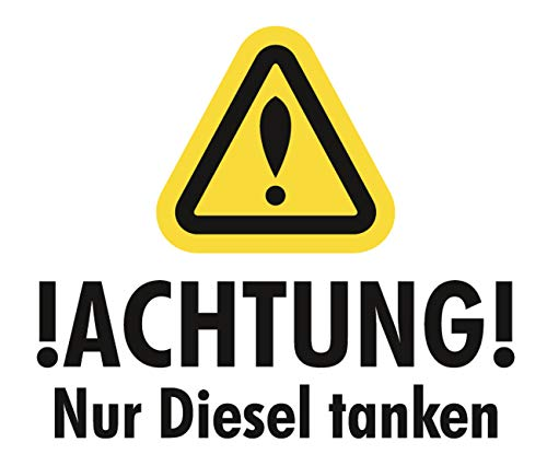 wetterfester Aufkleber Nur Diesel Tanken 5cm Benzin Auto E10 Frauen car Tuning