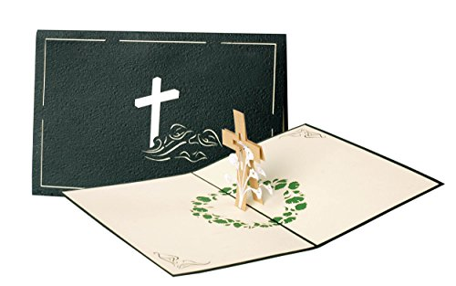 C10 Trauerkarten, Beileidskarte, Danksagung, Pop-Up Karte, edel