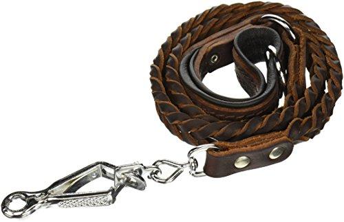 Dean & Tyler Komfort Braid Polsterung schwarz Hund Leine mit Edelstahl Ring am Griff und Herm Sprenger Hardware, 4-feet von 3/4-Zoll, braun - Hundegeschirr Hund Knochen