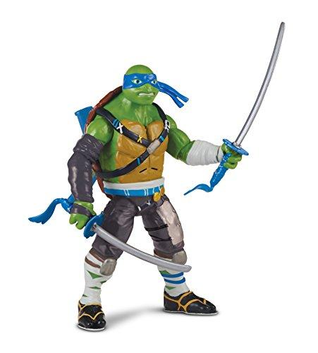 """Image of Teenage Mutant Ninja Turtles """"Leo"""" Movie 2 Deluxe Talking Figure"""