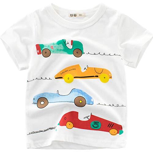 52114c3b57576 Oyoden T-Shirt Garçon à Manches Courtes Bébé Été Top Coton Cartoon Vêtements  1-