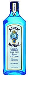 Bombay Sapphire Distilled London Dry Gin, 1 liters