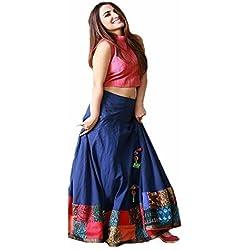 arav print Women's Cotton Lehenga choli (printed lehanga 4_multi color_Free Size)