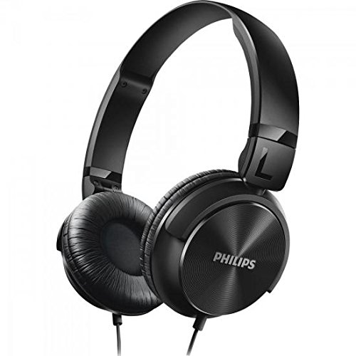 Philips SHL3060BK Casque audio pliable à plat, Conception fermée, Câble 1,2m, Noir