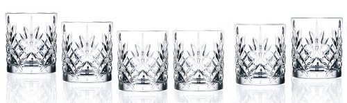 RCR Crystal Melodia Collection Double Old Fashioned Glass Set by Lorenzo -