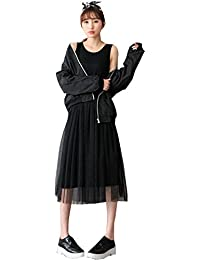 c5c0986ceffc BOZEVON Donna Abito per Allattamento - Vestito Premaman Casual Senza Maniche  Moda Elegante Estivo Gilet T