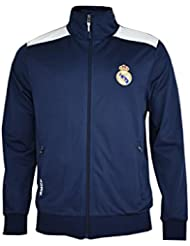 Real Madrid- Sweat-shirt enfant, couleur Navy- White. Taille 10 ans
