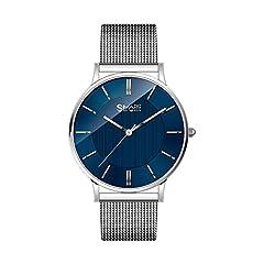 Idea Regalo - Stroili - Solo tempo cassa e bracciale in acciaio - quadrante blu per Uomo