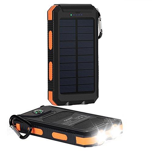 Batteria Portatile,10000mAh 2-Uscite Power Bank, Caricabatterie Portatile