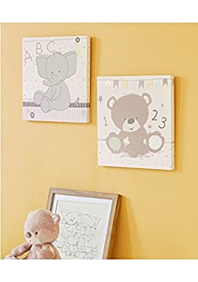 Mothercare Teddy's Toy Box Embroidered Canvas Wall Art - cheap UK light shop.