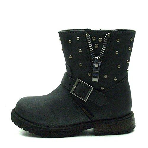 SB173 Studio BIMBI Baby Boots w/zip Mid Calf for Girls >      > Bébé Bottes w / zip Mi-mollet pour les filles Pewter (argent)