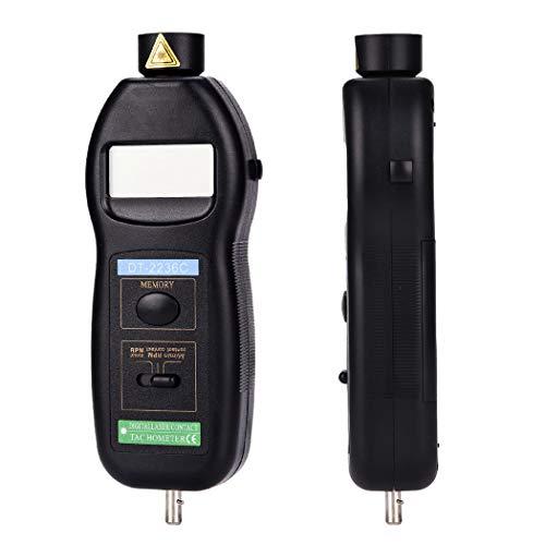 Drehzahlmesser, digitales LCD-Display Foto/Kontakt Zweifach-Drehzahlmesser-Schwarz