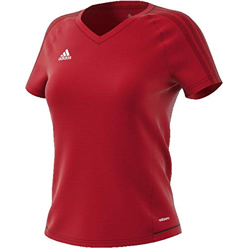 adidas Damen Tiro17 Training Jersey Trikot, Scarlet/Black/White, 2XL - Adidas Tiro Training Jersey