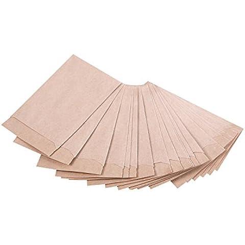 Mini bolsas de regalo, 100 unidades, color marrón, 6,3x 9,3cm (+1,5cm pestaña); bolsitas de papel de regalo, para calendario de adviento, paquetitos, joyas y otros. ¡Tenemos muchas otras bolsitas!