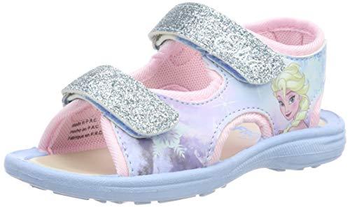 Die Eiskönigin Mädchen Girls Kids Classic Sandals and Mules Riemchensandalen, Blau (Light Blue LBL), 26 EU -