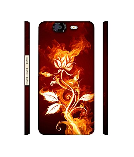 Casotec Fire Flower Designer 3D Printed Hard Back Case Cover for Micromax Canvas Knight A350