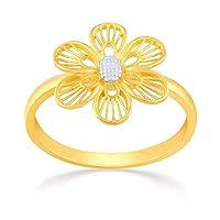 Malabar Gold and Diamonds Women's 22KT Yellow Gold Ring, L 1/2 - NZR323