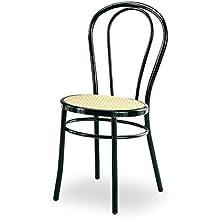 Sedie Tipo Thonet Usate.Sedie In Paglia Di Vienna Nero Amazon It
