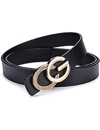 SJMM-YD Señoras Cuero Liso Hebilla de Cinturon de Ocio Personalidad GG  Hebilla de Cinturon de Cuero Cinturon… c78e6cec5eec