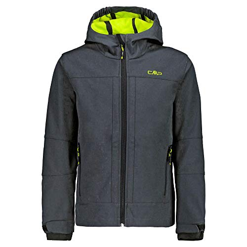 CMP Jungen Softshell Jacke 3A00094, Antracite-Limegreen, 152
