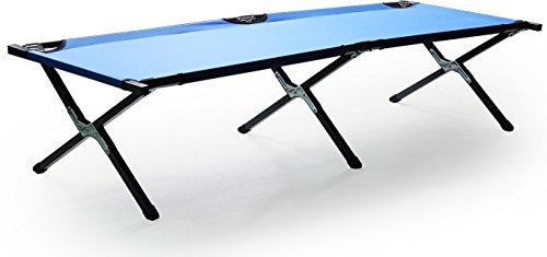 Feldbett Klappbett Bett Campingbett Gästebett Liege Campingliege Metall Blau