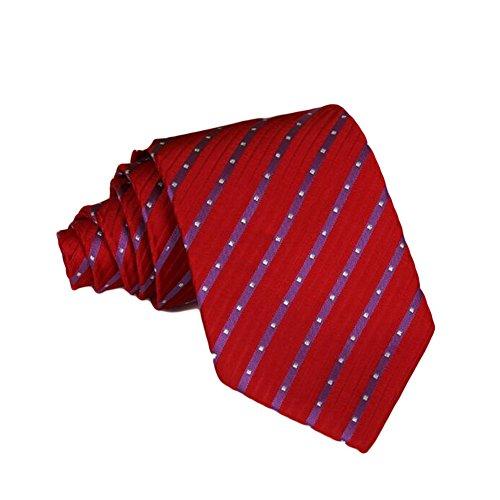 Meijunter Classique Cravate rayée Jacquard Woven Mens Silk Suits Cravates Noce cravate AS036