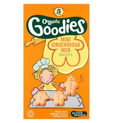 Organix Goodies Organic Mini Gingerbread Men From 12+ Months 5 x 25g