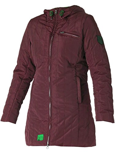 Cat-Man-Doo Damen Steppjacke Mantel Rot Burgunday Gr. 10, Rot - Weinfarben