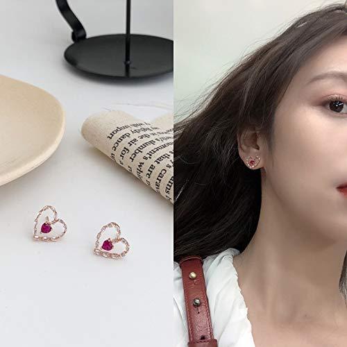 Chwewxi Ohrringe Korea einfaches Temperament langes Gesicht abnehmen Exquisite kleine Anhänger Ohrringe Ohrclips ohne durchbohrte Frauen, Apricot E463 Ohrringe -