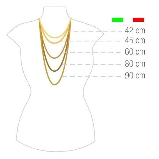 14 Karat / 585 Gold Kordelkette Gelbgold Unisex - 2.50 mm. Breit - Länge wählbar