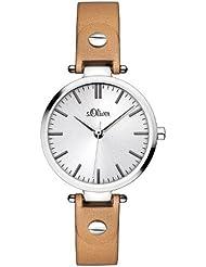 s.Oliver Damen-Armbanduhr XS Analog Quarz Leder SO-2887-LQ