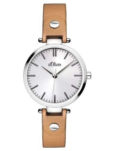 s.Oliver SO-2887-LQ  Ladies' Quartz Watch – Analogue – Leather Bracelet, Beige