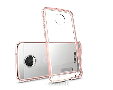 Motorola Moto Z / Z DROID Coque, Cocomii Modern Armor NEW [Crystal Clarity] Premium HD Clear Anti-Scratch Shockproof Hard Bumper Shell [Slim Fit] Full Body Ultra Thin Lightweight Transparent Cover Case Étui Housse (Crystal Pink)