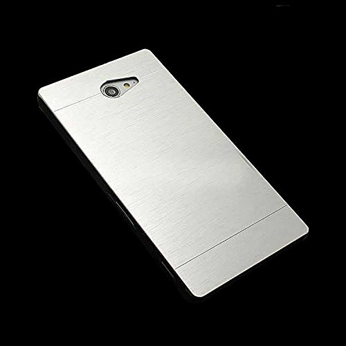 Saihan Motomo Brushed luxury Metal Hard Case Cover For Sony Xperia E4 Silver