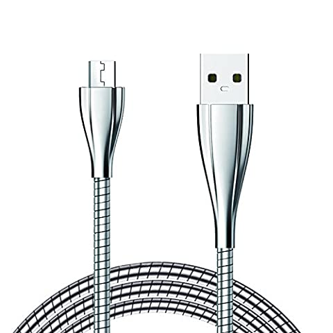XUTU Micro Chargeing Cable 3.3ft / 1M Metal Durable Lightning