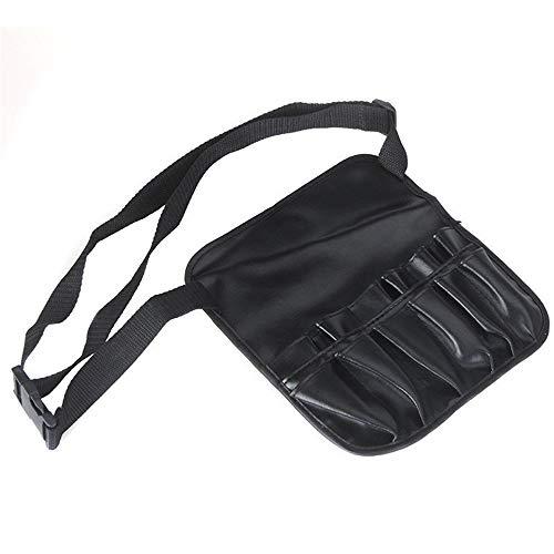 Jadeyuan Professionelle Reise Kosmetik Make-Up Pinsel Schürze Tasche Beauty Handtasche Fall Hand Etui Tasche mit Gurtband Etui (Color : Schwarz, Size : M) (Wasserdichte Kosmetik-etui)