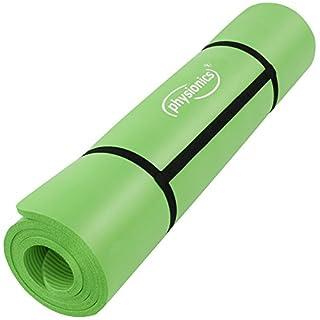 Physionics Matte Isomatte Fitnessstudio Fitness Gymnastik Yoga Stärke 1,5cm Größe 190/100cm Farbe grün