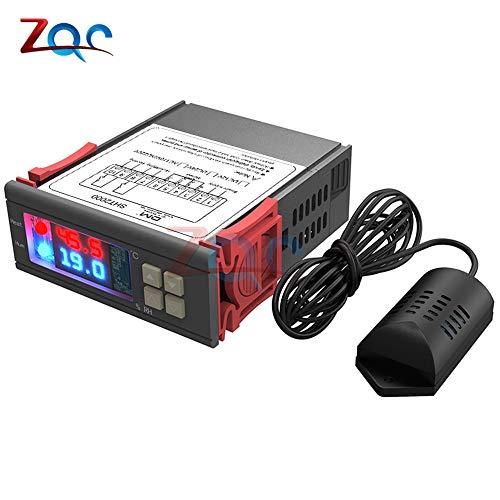 SHT2000 AC 110V-230V 10A LED Digital Thermostat Hygrometer Thermometer Steuerung Temperatur Feuchte Controller Meter SHT21 Sonde