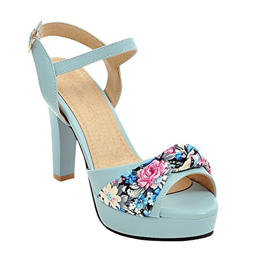 Mee Shoes Damen süß Slingback high heels Sandalen Blau