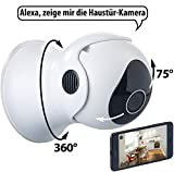 7links Outdoor Kamera: Pan-Tilt-IP-HD-Überwachungskamera für Echo Show, WLAN, App, Nachtsicht (Outdoor Camera)