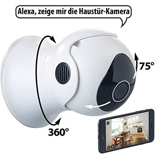 7links Outdoor Kamera: Pan-Tilt-IP-HD-Überwachungskamera für Echo Show, WLAN, App, Nachtsicht (Aussenkamera)