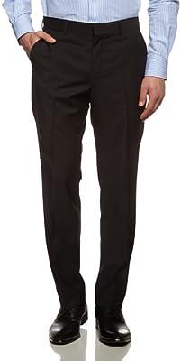 Tommy Hilfiger Rhames Stssld99001 - Pantalón de traje para hombre, color Negro 099, talla 50 (talla fabricante: 25)