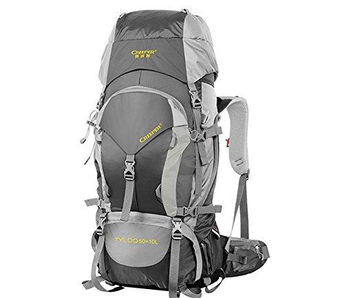 60L escursionismo outdoor zaino Pack zaino impermeabile borse a tracolla per uomini e donne a piedi Pack , black 60 litres black 60 litres