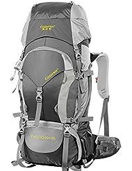60L al aire libre de senderismo mochila Pack mochila impermeable bandoleras para hombres y mujeres a pie Pack , black 60 litres