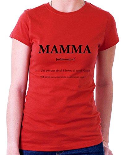 t-shirt festa della mamma mamma : definizione  by tshirteria rosso
