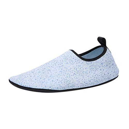 friendGG Damen Herren Wassersportschuhe Quick-Dry Aqua Beach Schuhe Yoga Socken Slip-On Sneaker Atmungsaktiv rutschfeste Mode Freizeitschuhe Wasserdicht Turnschuhe Leichte Outdoor Schuhe Wanderschuhe -